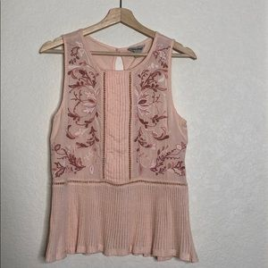 Lucky Brand Embroidered Floral Tank